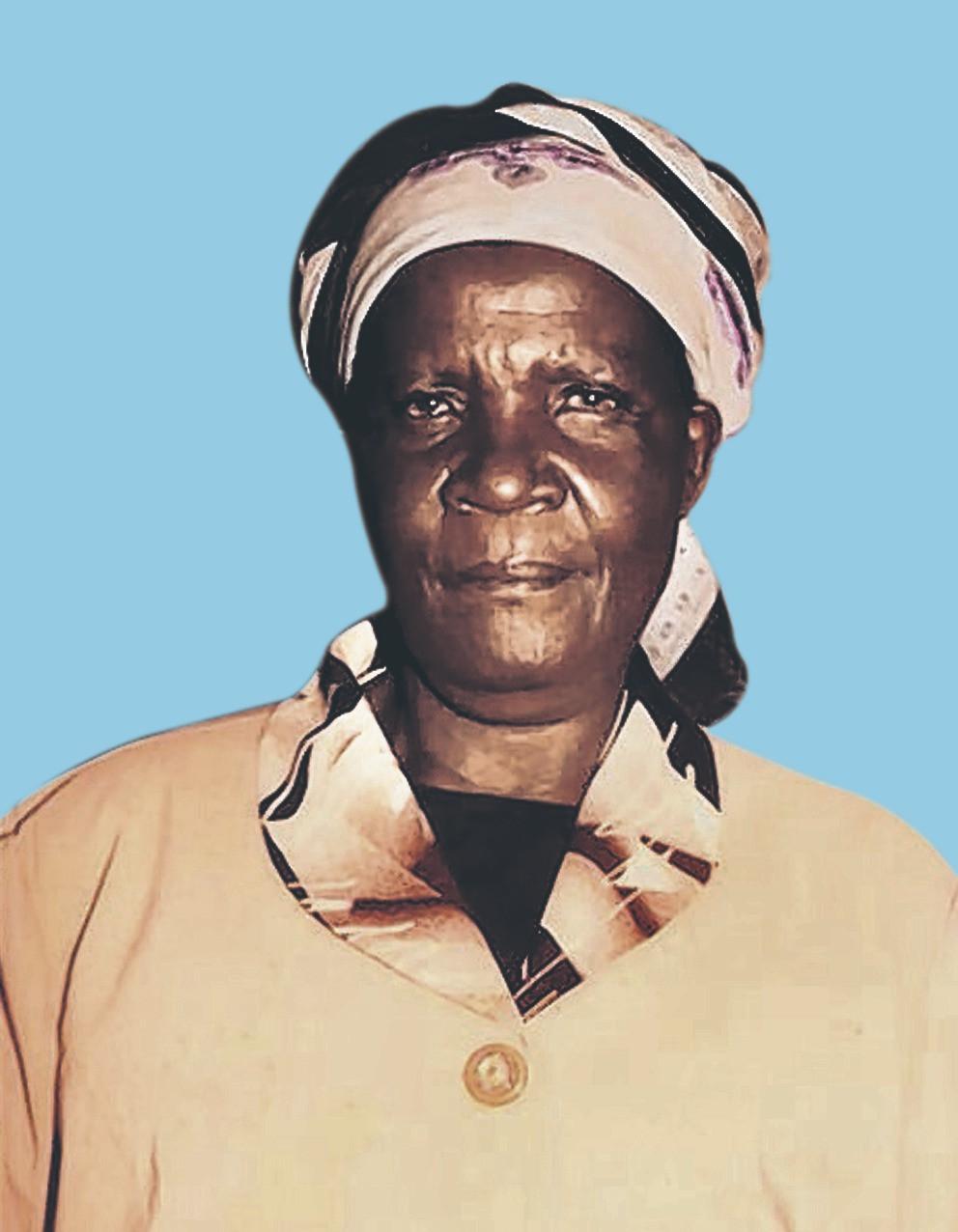 Mama Rosalia Sarange Ogendo.